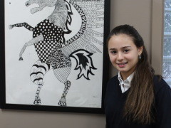 Students' prize-winning artwork displayed for all to enjoy