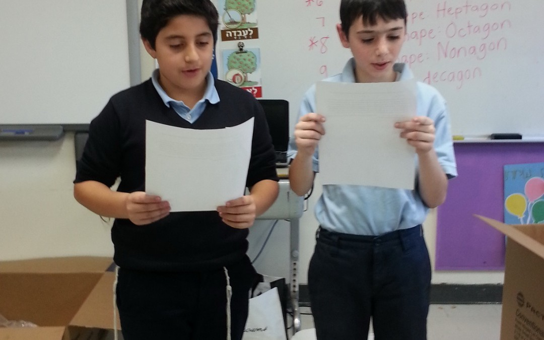 Grade 4 celebrates completion of Parashat Vayeshev